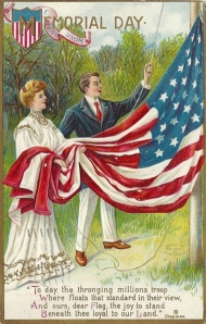 Holidays - Memorial Day Poem, with Flag